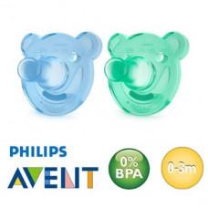 Philips AVENT Soothie sutter - Symmetriske silikone - Fra 0-3 mdr - 2 stk