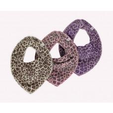 Pippi - bandana savlesmæk - Leopard print - Rosa