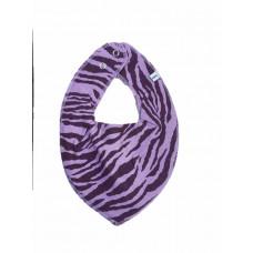 Pippi - bandana savlesmæk - Zebra strib - Lavendel