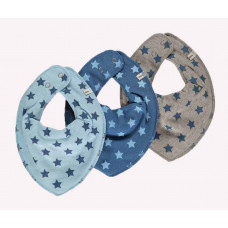 Pippi - bandana savlesmæk - Stars - Light blue
