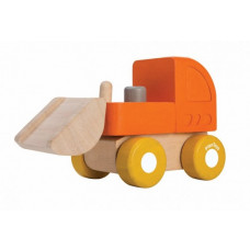 PlanToys - Bil i træ - Mini bulldozer