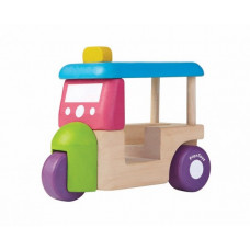 PlanToys - Bil i træ - Mini tuk tuk