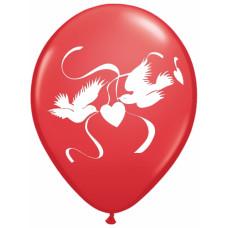 Romantisk balloner - Turtelduer - Rød