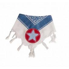 Bandana - Partisan tørklæde - Blå og hvid med stjerne
