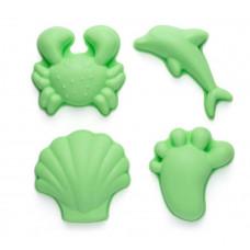 Scrunch - Sandlegetøj - Sandforme sæt med 4 stk - Mint