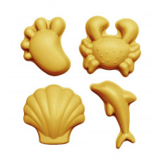 Scrunch - Sandlegetøj - Sandforme sæt med 4 stk - Mustard