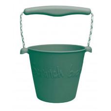 Scrunch - Sandlegetøj - Blød Foldbar Spand - Mørkegrøn