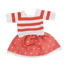Sebra - Hæklet dukketøj - Nederdel sæt i rødt
