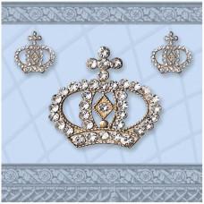 Servietter - Crown lyseblå - 20 stk