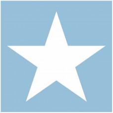 Servietter - Star lyseblå - 20 stk