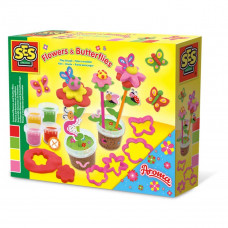 SES Creative - Modellervoks figursæt - Duftende blomster og sommerfugle