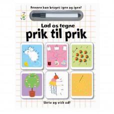 Karrusel forlaget - Skriv og visk ud bog - Prik til prik
