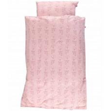 Småfolk - Junior sengetøj - GOTS organic - Rosa baby kaniner