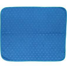 Småfolk - Baby fleece tæppe - Blå med æble tryk - Øko Tex