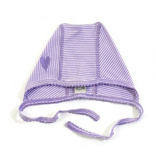 Smallstuff - Baby hue - Str. 74/80 - Lavendel/hvid