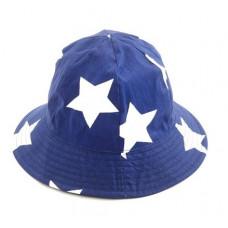 Smallstuff - Børne - bøllehat blå - med hvide stjerner