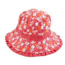 Smallstuff - Børne bøllehat - rød flower