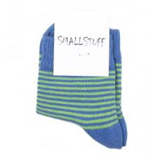Smallstuff - Ankel sokker - Størrelse 21-24 - Blå/Oliven