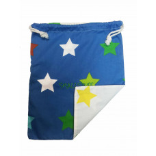 Smallstuff frugtpose XL - Blå og hvid med stjerner