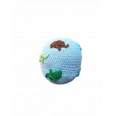 Smallstuff - Håndhæklet bold - Lyseblå