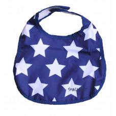 Smallstuff spisesmæk lille -  blå med hvide stjerner