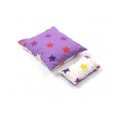 Smallstuff - Dukke sengetøj - Lilla med multi stjerner