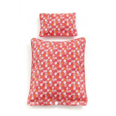 Smallstuff - Dukke sengetøj - Rød flower
