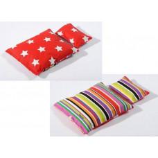 Smallstuff - Dukke sengetøj - Rød med multi strib