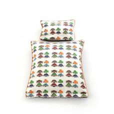 Smallstuff - Dukke sengetøj - Brun med søde biller