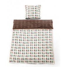 Smallstuff - Baby sengetøj - Brun med søde biller