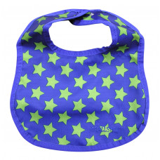 Smallstuff spisesmæk lille -  blå med lime stjerner