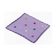 Smallstuff - Dukke tæppe - Lilla blomst