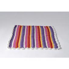 Smallstuff - Dukke tæppe - Sølv strib