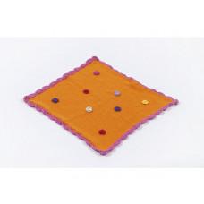 Smallstuff - Dukke tæppe - Orange blomst