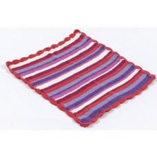 Smallstuff - Dukke tæppe - Rød strib