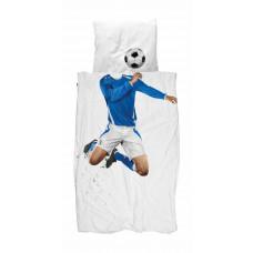SNURK - Voksen sengetøj - Fodbold blå