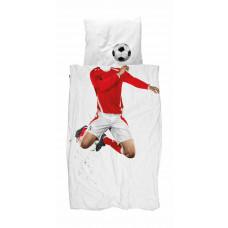 SNURK - Junior sengetøj - Fodbold Rød