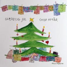 Tusindfryd - Lykønskningskort - Julekort - Juletræ