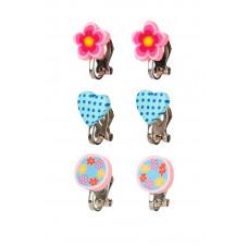Souza - Børnesmykker - Øreringe med clips - Hjerter og blomster
