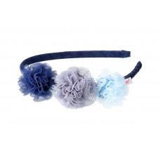 Souza - Hårbøjle - Blå med blomster - Denu