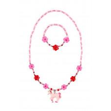Souza - Børnesmykker - Halskæde og armbånd - Pink/fuchsia enhjørning