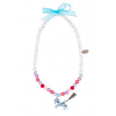 Souza - Børnesmykker - Halskæde - Glimmer hest og perler i pastelfarver - Rosalie