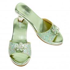 Souza - Udklædnings sko - Slippers med mint glimmer og høj hæl - Pippa