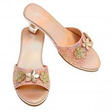 Souza - Udklædnings sko - Slippers i peach glimmer med høj hæl - Clarisse
