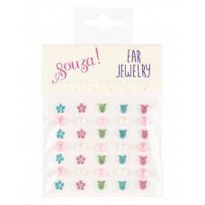 Souza - Klistermærker som øreringe - Hjerter, blomster og perler