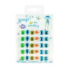 Souza - Klistermærker som øreringe - Mermaid krystal