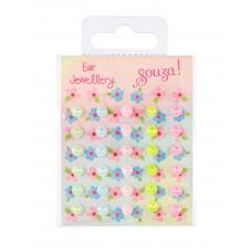 Souza - Klistermærker som øreringe - Flower dots
