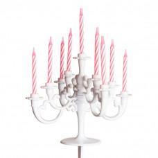 Prinsesse Lillifee - Fødselsdags kage-lysekrone - 9 Armet Med Lys -  Hvid