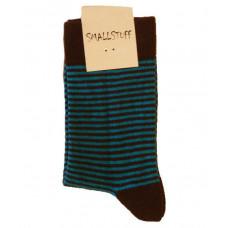 Smallstuff - Ankel sokker Turkis/Brun, størrelse fra 21 - 24