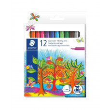 Staedtler - Tuscher - Brilliant Colours - 12 stk.